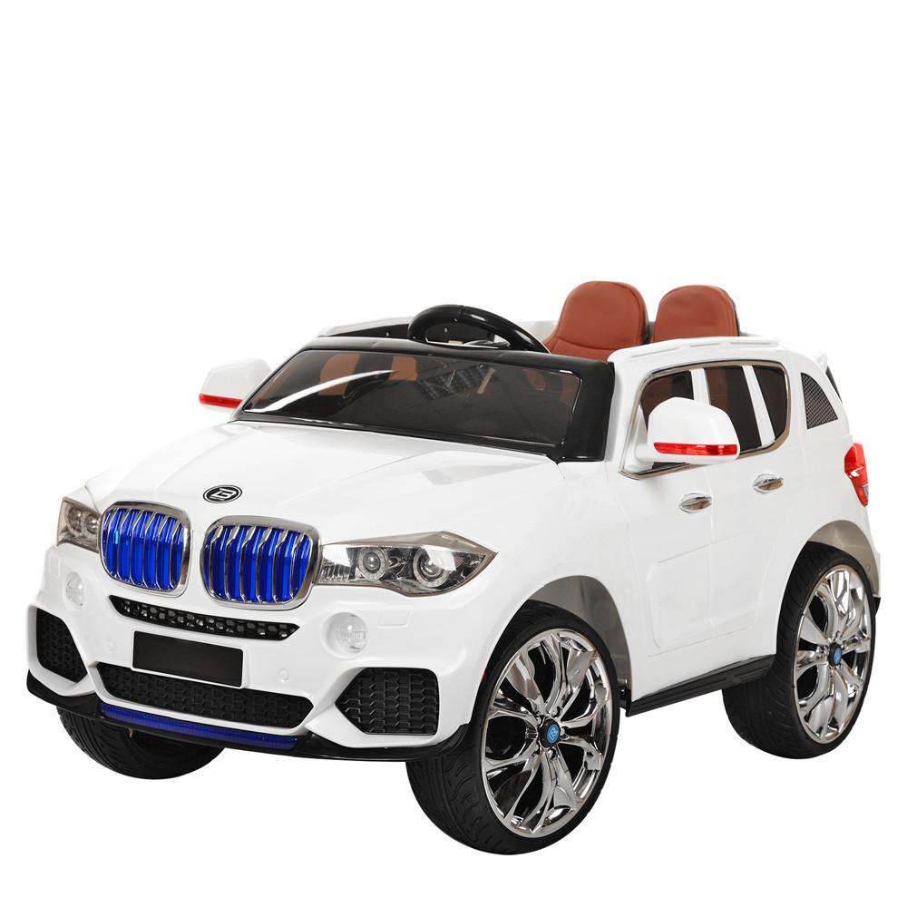 Детский электромобиль джип BMW X5 4WD M 2762(MP4)EBLR-1 белый