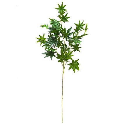 Искусственная веточка Клен, 95 см, зеленый (631758)