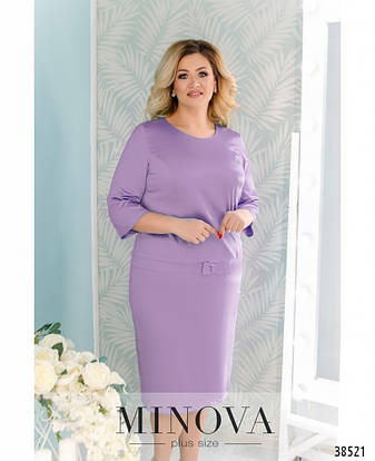 Платье женское большой размер №41581-1-сиреневый| 56-58|60-62, фото 2