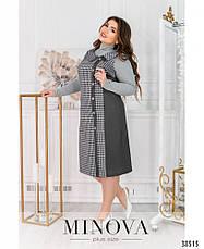 Платье женское большой размер №496Б-графит| 54|56|58|60|62|64, фото 2