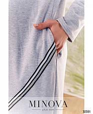 Платье женское большой размер №809-серый  50-52 54-56 58-60 62-64, фото 3