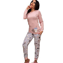 Пижама женская хлопковая (розовая).
