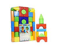 Детский конструктор 36 деталей (1 072) пластиковый | Colorplast
