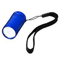Фонарик Comet карманный на светодиодах, синий, от 10 шт