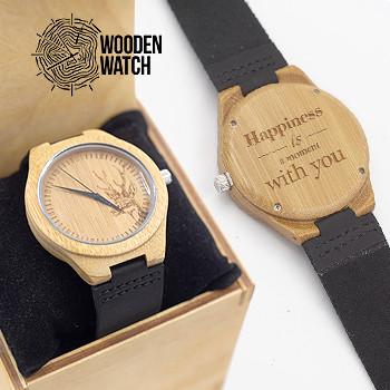 Деревянные наручные часы ручной работы WoodenWatch Nature подарок с индивидуальной гравировкой