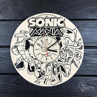 Бесшумные настенные часы из дерева «Соник», фото 2