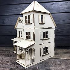 Оригинальный деревянный домик для кукол