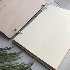 Книга в дизайнерской деревянной обложке с гравировкой на заказ, фото 3