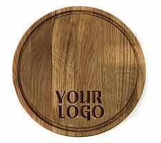 Доска разделочная 29 см деревянная круглая для подачи