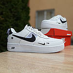 Женские кроссовки Nike Air Force 1 LV8 (бело-черные) 20036, фото 7