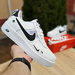 Женские кроссовки Nike Air Force 1 LV8 (бело-черные) 20036, фото 8