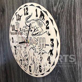 """Стильные настенные часы деревянные """"Джуманджи"""", фото 2"""
