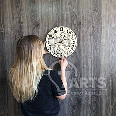 """Стильные настенные часы деревянные """"Джуманджи"""", фото 3"""