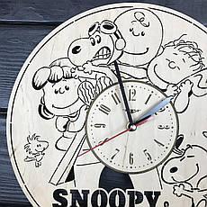 """Бесшумные настенные часы в детскую """"Снупи"""", фото 3"""