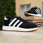 Женские кроссовки Adidas INIKI (черно-белые) 20035, фото 8