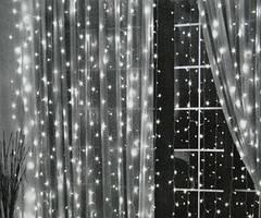 Гирлянда Водопад 400 LED, размер 3х2 м белая