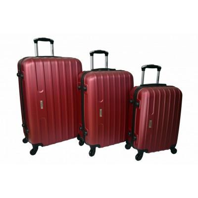Чемодан Siker Line набор 3 штуки, бордовый