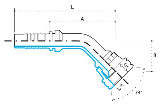 """Ниппель DKJ 5/8""""-18  под шланг dу=08 мм. (угол 45 °)"""