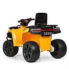 Детский электромобиль квадроцикл Bambi ZP5138E-6 желтый, фото 6