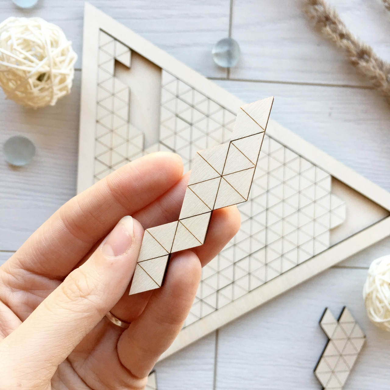 Логическая игра-головоломка из дерева «Загадочный треугольник»