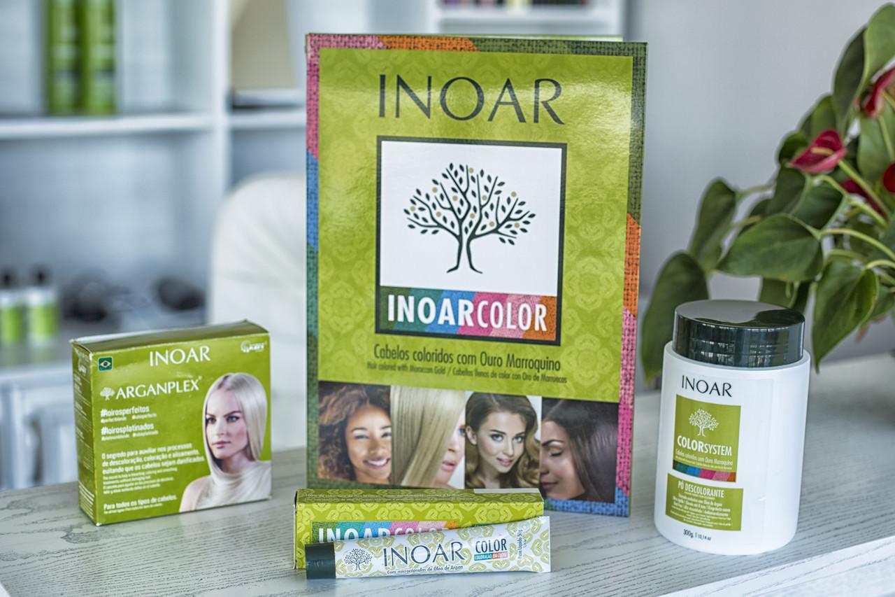 Краска-восстановитель для волос Иноар на основе из кератина и аргановых гранул
