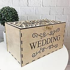 """Деревянная свадебная коробка для денег """"Wedding"""""""