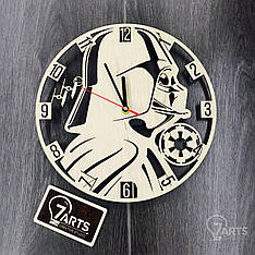 Часы ручной работы настенные «Время Звездных Войн»
