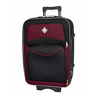 Текстильный чемодан Bonro Style средний, черно-вишневый