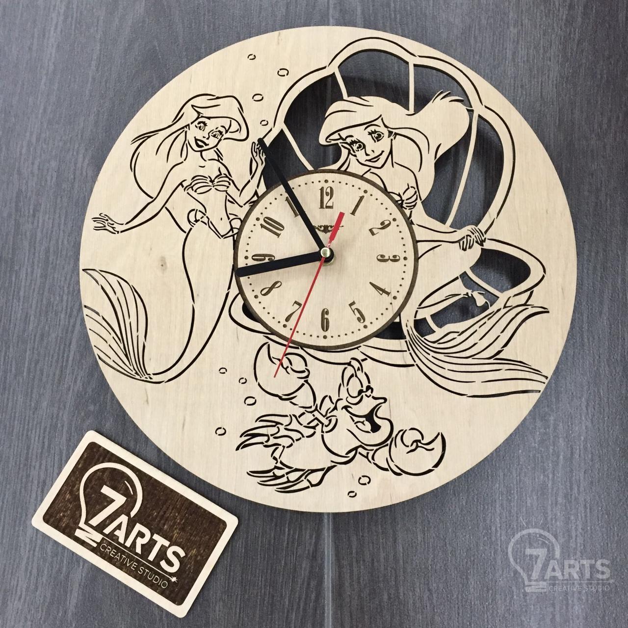 Часы настенные детские «Русалочка Disney»