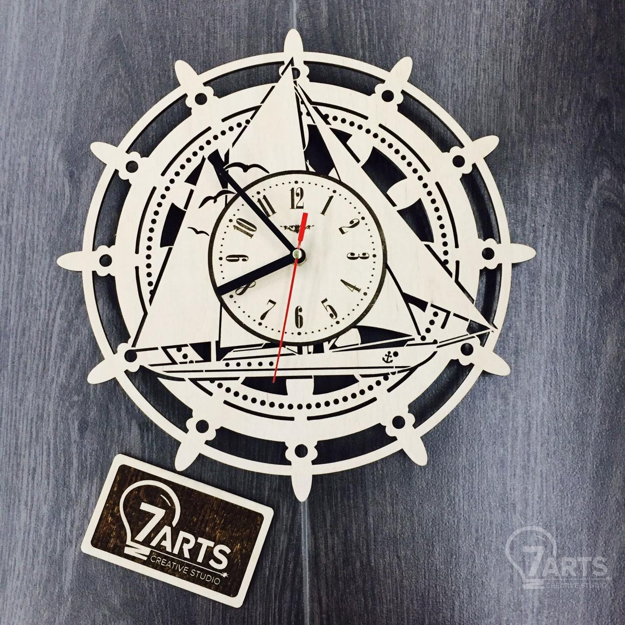 Часы «Штурвал» настенные деревянные