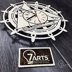 Часы «Штурвал» настенные деревянные, фото 2