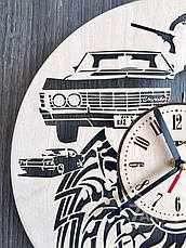 Дизайнерские деревянные часы «Сверхьестественное», фото 2