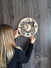 Дизайнерские деревянные часы «Сверхьестественное», фото 3