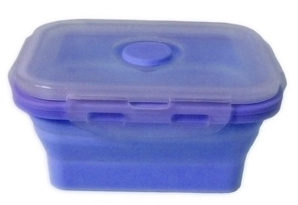 Контейнер пищевой силиконовый Stenson MH-3392 350мл, голубой