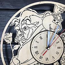 "Часы хендмейд из дерева ""Красавица и чудовище"", фото 3"