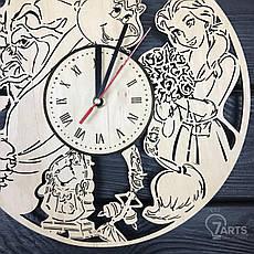 "Часы хендмейд из дерева ""Красавица и чудовище"", фото 2"