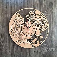 """Оригинальные настенные часы в детскую """"Красавица и чудовище"""""""