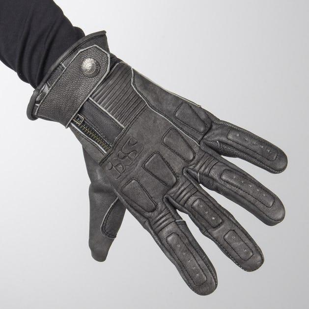 IXS Kelvin Vintage Black Gloves мото перчатки ретро