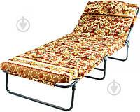 Раскладушка кровать с матрасом и подушкой (120 кг)