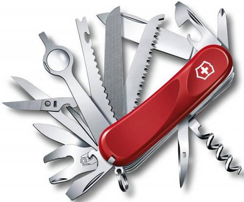 Функциональный армейский складной нож Victorinox Evolution 28, 25383.E красный