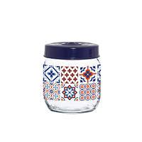 Банка стеклянная для хранения продуктов herevin mosaic 425 мл (171341-063)