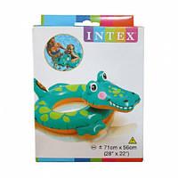 Детский надувной Надувной круг для плавания детский  58221 ( 58221-2 (Крокодил))