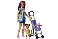 Кукла Барби Набор Оригинал Скиппер няня прогулка Barbie Skipper Babysitters Inc. Doll and Stroller Playset