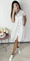 Стильное женское платье свободного кроя Ткань котон стрейч размеры42-52