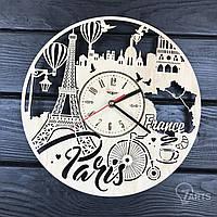 """Интерьерные часы на стену """"Париж, Франция"""""""