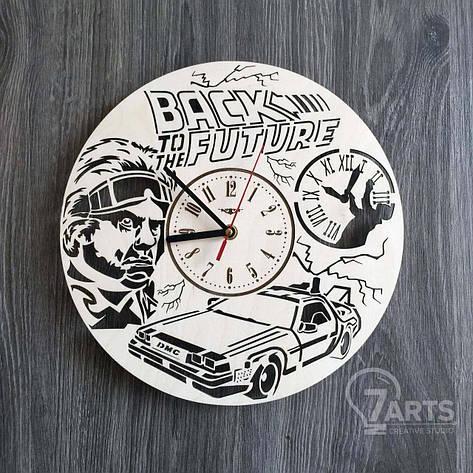 Дизайнерские деревянные часы на стену «Назад в будущее», фото 2
