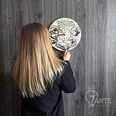 Дизайнерские деревянные часы на стену «Назад в будущее», фото 3