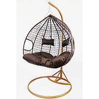 Підвісне крісло-гойдалка кокон B-183Е (коричневе)
