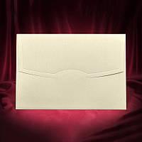 Бежевый перламутровый конверт (арт. Z-008)