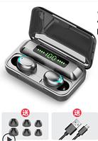 Amoi F9 - беспроводные наушники сенсорные кнопки powerbank 2000 мАч лэд экран
